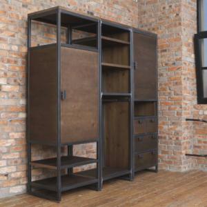 Шкаф в стиле лофт предназначен