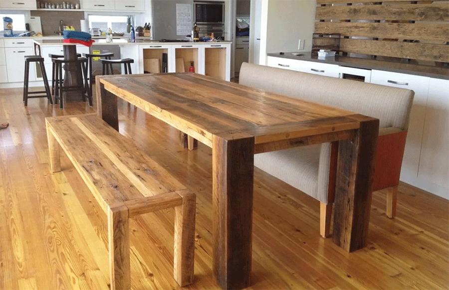 Мебель из дерева в стиле лофтудивит их