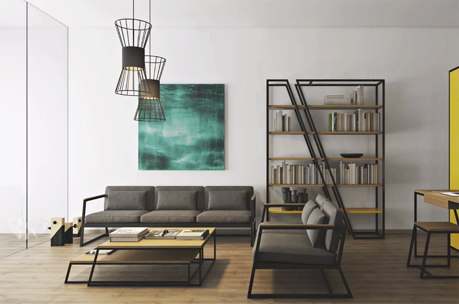 деревянная мебель, созданная в лофтовом направлении
