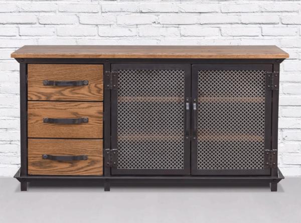 мебелью в стиле лофт для прихожей можно