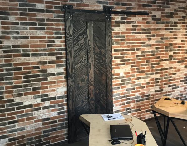 раздвижные двери в стиле лофт