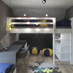 Кровать в стиле лофт для подростков