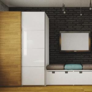 Шкаф для комнаты подростка в стиле лофт