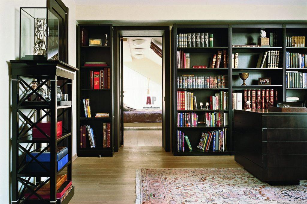 Раздвижные книжные шкафы и библиотеки для дома